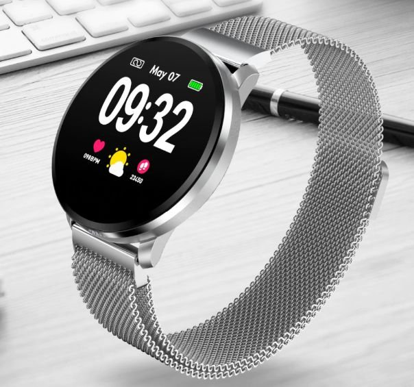 Relógio Eletrônico Smartwatch CF68 Aço Inox + Pulseira extra de brinde