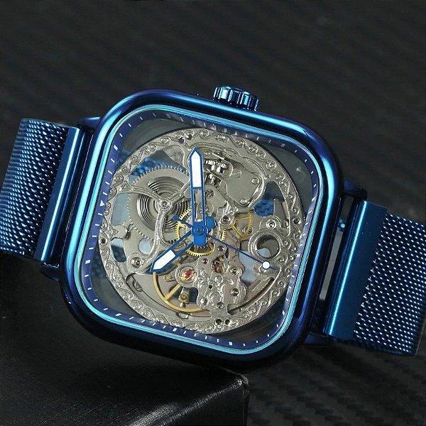 Relógio Automático Winner 075 - Aço Inoxidável