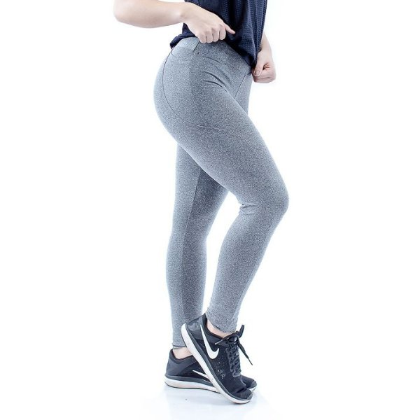 Legging Pocket - Cinza Mescla