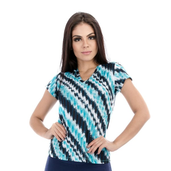 Blusa Manga Curta Waves