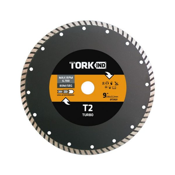 "Disco Diamantado Turbo 230x22mm - 9"""