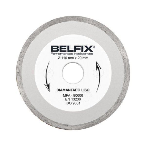 Disco Diamantado Liso Contínuo 110x20mm