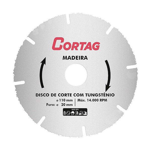 Disco de Corte Madeira com Tungstênio - Cortag