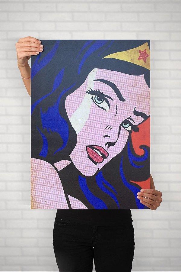 Mulher Maravilha Vintage - Quadro PVC - 60x40cm
