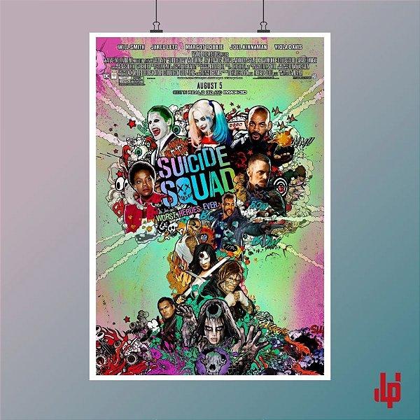 Poster Oficial - Esquadrão Suicida - 33x48 cm