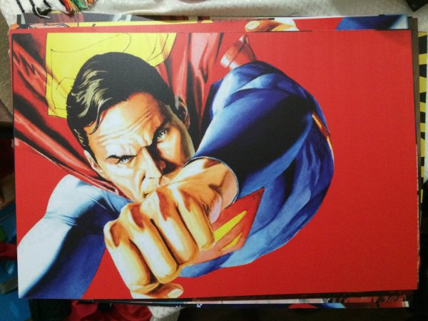 Superman VINTAGE - QUADRO EM PVC - 60x40cm