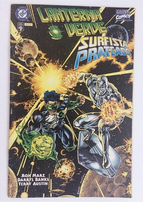 Lanterna Verde e Surfista Prateado - Alianças Profanas (Marvel e DC juntas - Raridade)