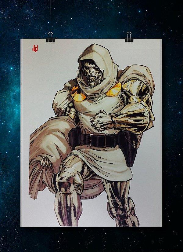 Pôster LP -DR.DESTINO (Dr.Doom)Guerras Secretas- (Prateado / metalizado)