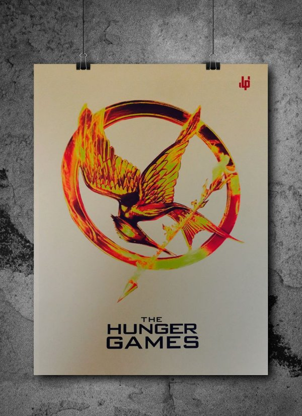 Pôster LP -Hunger Games (Jogos Vorazes) - (Dourado / metalizado)
