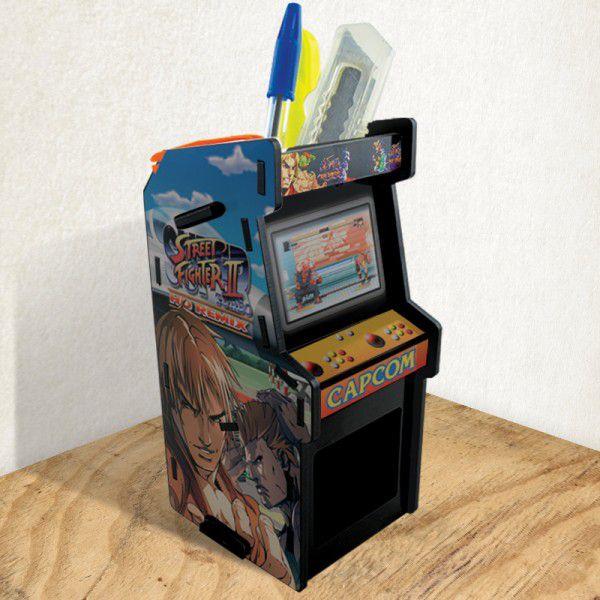 Porta Treco Arcade Preto - Street Fighter 2