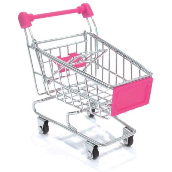 Mini Carrinho de Compras porta trecos - Lilás ou Rosa