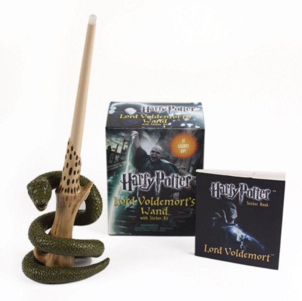 Kit Réplica e Livro - Harry Potter Lord Voldemort's Wand With Sticker Book