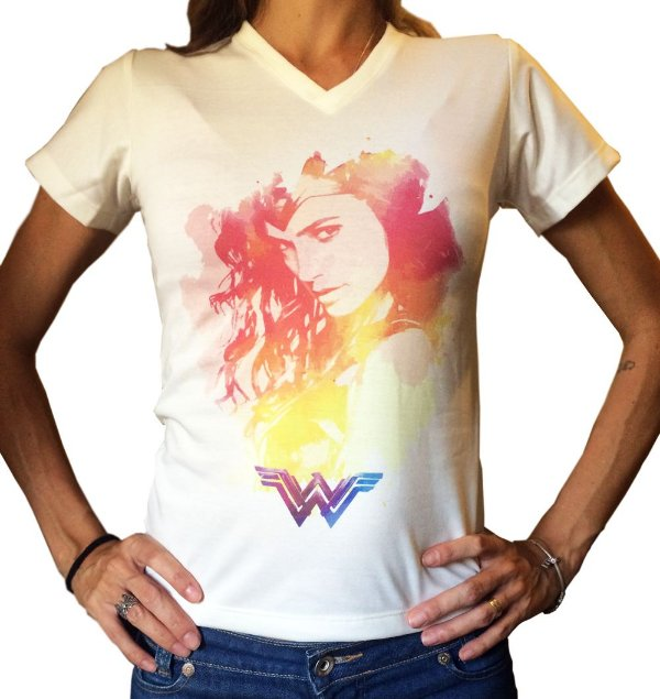Camiseta Babylook - Mulher Maravilha - Gal Gadot