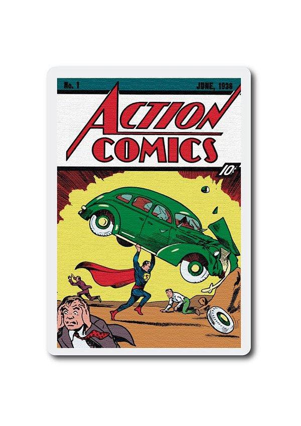 ACTION COMICS 1 - SUPERMAN - PLACA DECORATIVA EM MDF
