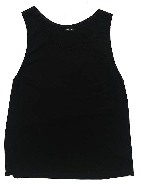 64cb2edfafa59 Camiseta Regata Feminina Lerrux Básica Preta - mundoinko
