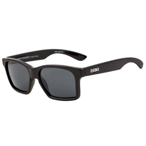 e1fb6a1db8cb6 Óculos Escuro Evoke Thunder Black Shine Silver Gray Total - mundoinko