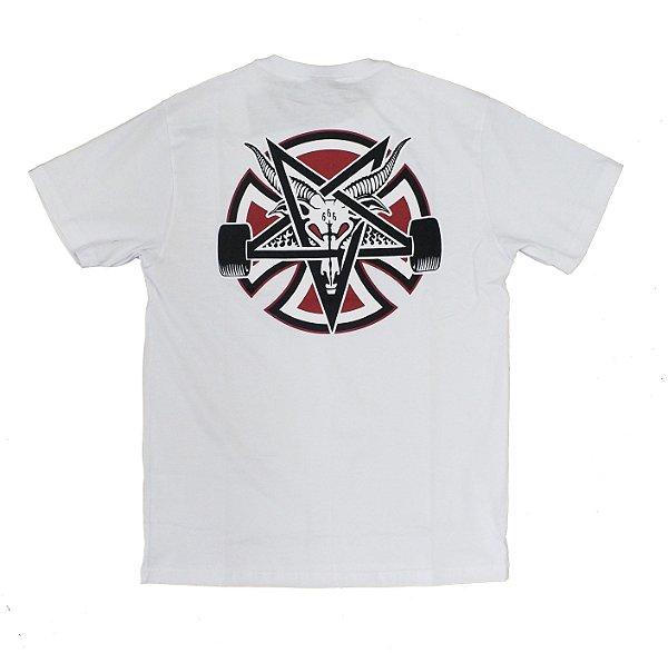 Camiseta Thrasher x Independent Pentagram Cross Branco - mundoinko 77d6adbcdec