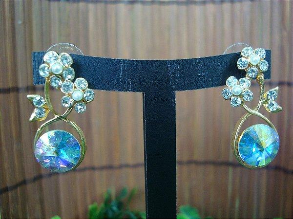 Brinco Noiva Delicado Cristal AB - aurora boreale