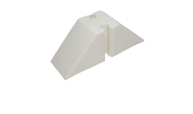 Calço trapézio T40 branco - 2 Furos