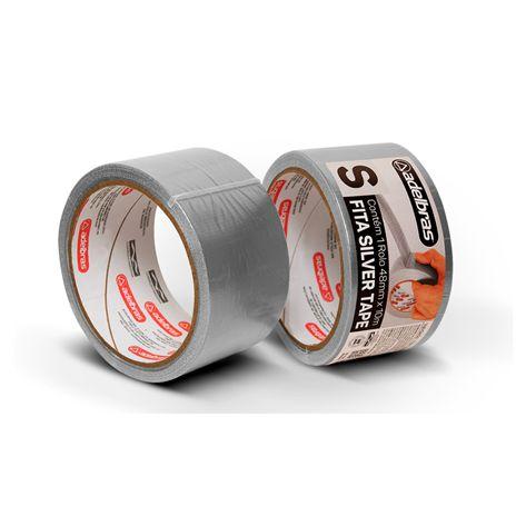 Fita Multiuso Silver Tape Prata 48mm x 10m
