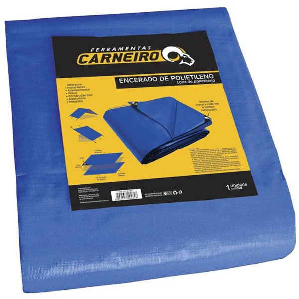 Lona Carreteiro Polietileno Azul 7x5M Carneiro