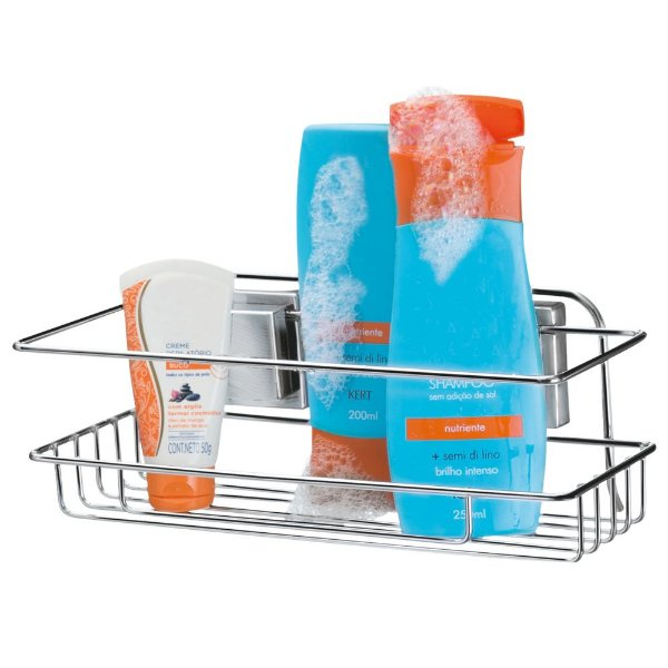 Porta Shampoo Com Ventosas Por Sucção - Arthi
