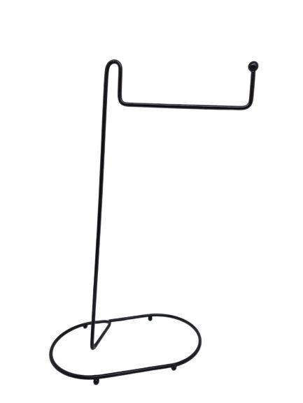 Porta Toalha Bancada Simples - Preto