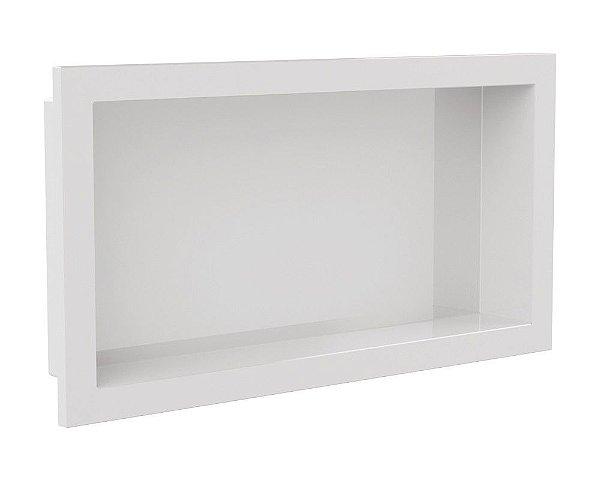 Nicho de banheiro plástico para Embutir 30x60 - Branco