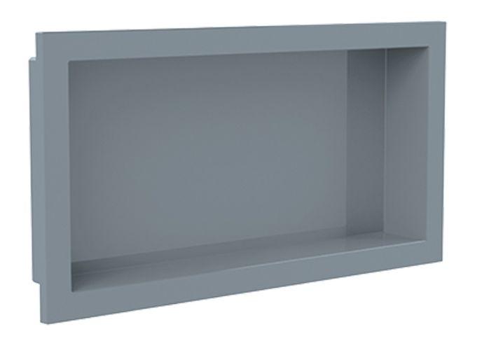 Nicho de banheiro plástico para Embutir 30x60 - Cinza Urbano
