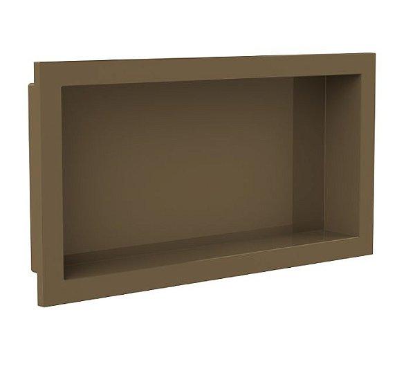 Nicho de banheiro plástico para Embutir 30x60 - Bronze