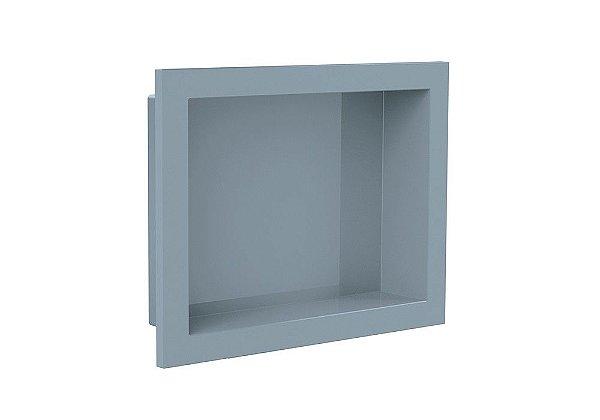 Nicho de banheiro plástico para Embutir 30x40 - Cinza Urbano