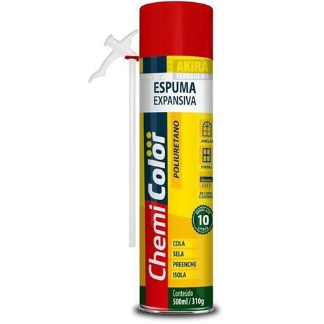 Espuma Poliuretano Expansiva 500ml Chemicolor
