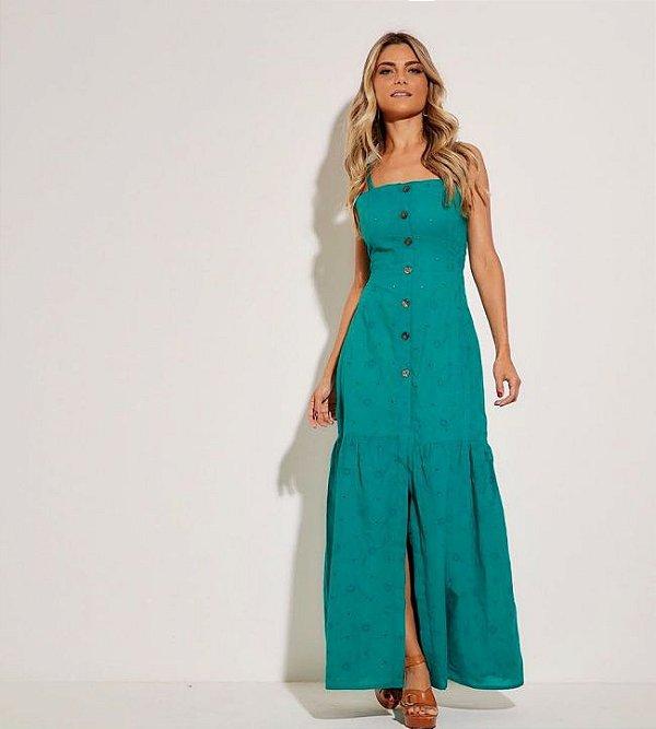 Vestido longo laise verde