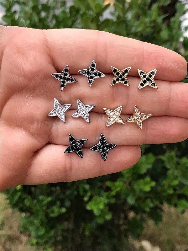 Brinco Estrela 4 Pontas Mini