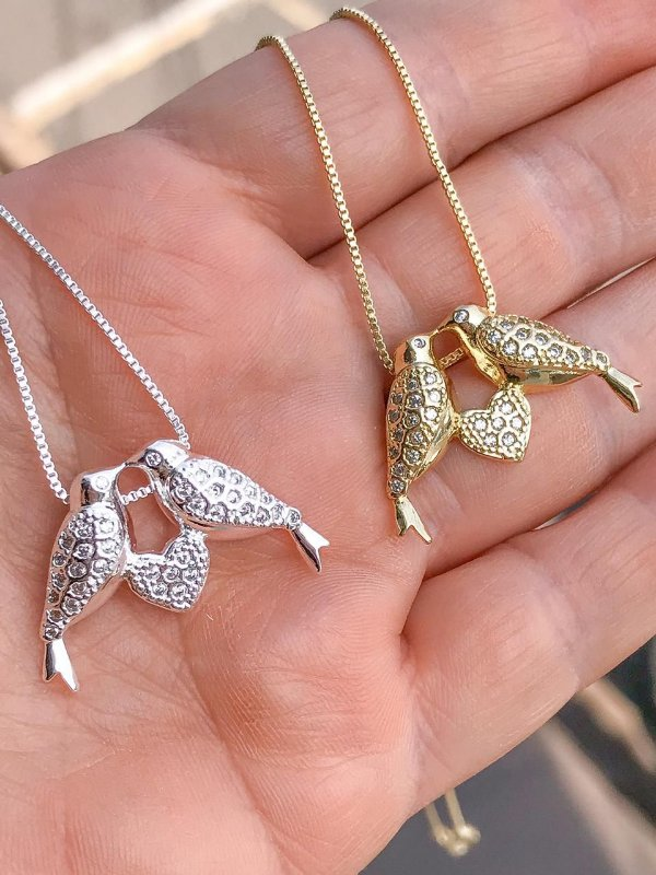 Colar Pássaros Love