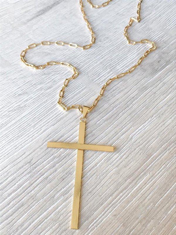 Colar Crucifixo Liso