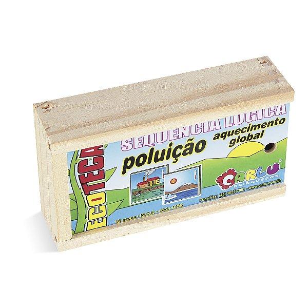 Sequençia lógica  poluicao / aq. global - MDF - 16 pc - Cx. mad.