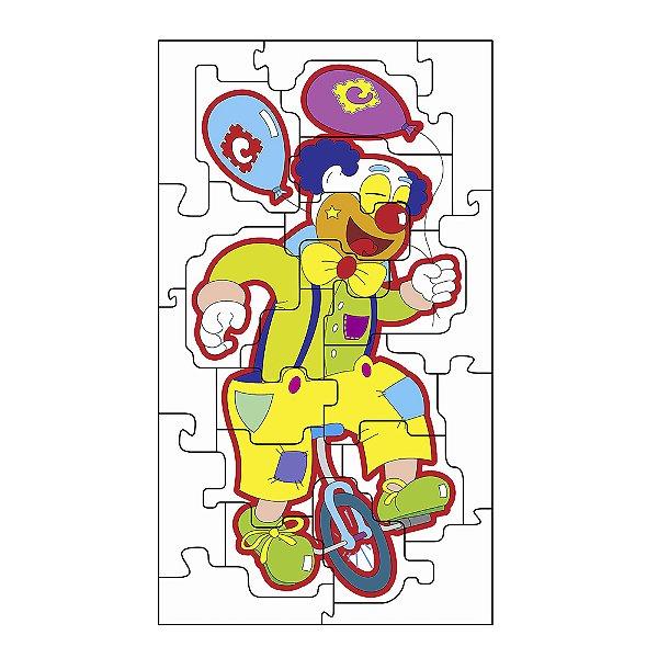 Quebra Cabeça gig. palhaco equil. - MDF - 24 pc - Cx. papel