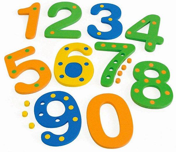 Numerais com Pinos de 0 a 9 em E.V.A.