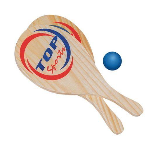 Raquete de frescobol 02 raquetes e 01 bolinha
