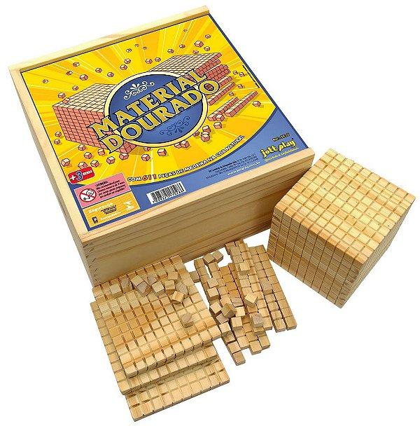 Material Dourado completo 611 peças cx de madeira