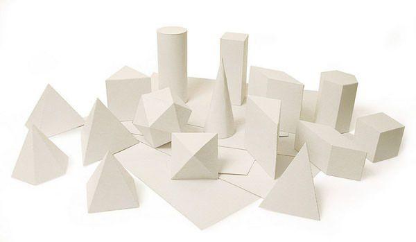 Sólidos Geométricos Planificados 20 figuras em papelão cartolina