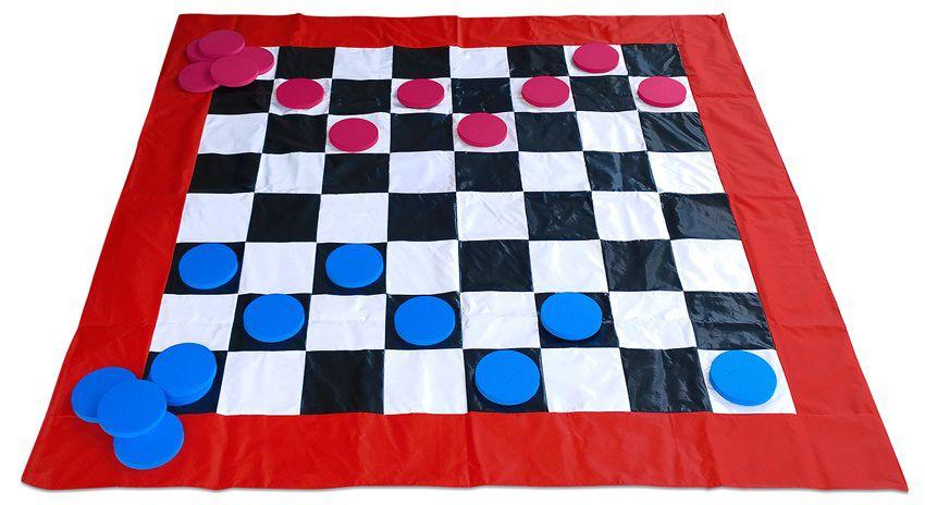 Jogo de Dama em Bagum medindo 2,00x2,00m