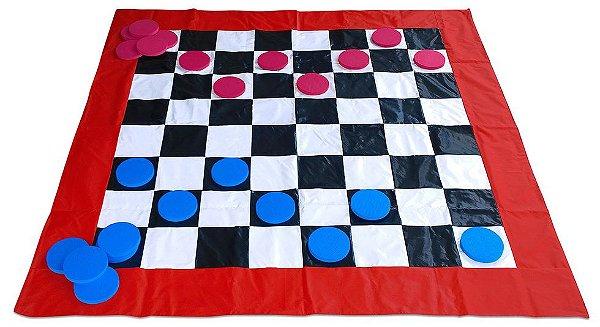 Jogo de Dama em Bagum medindo 1,20x1,20m
