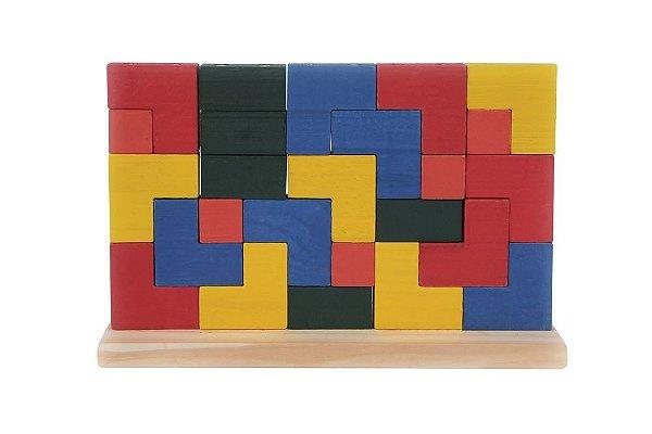 Blocos de Encaixe Vertical-  25 Peças de encaixe Coloridas