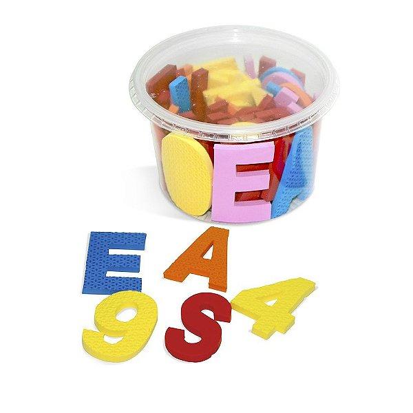 Alfabeto movel em EVA com  46 pecas - Emb. pote