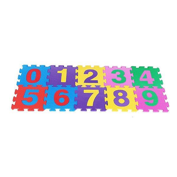 Tapete de numeros em EVA com 10 pecas - Emb. c/ ziper