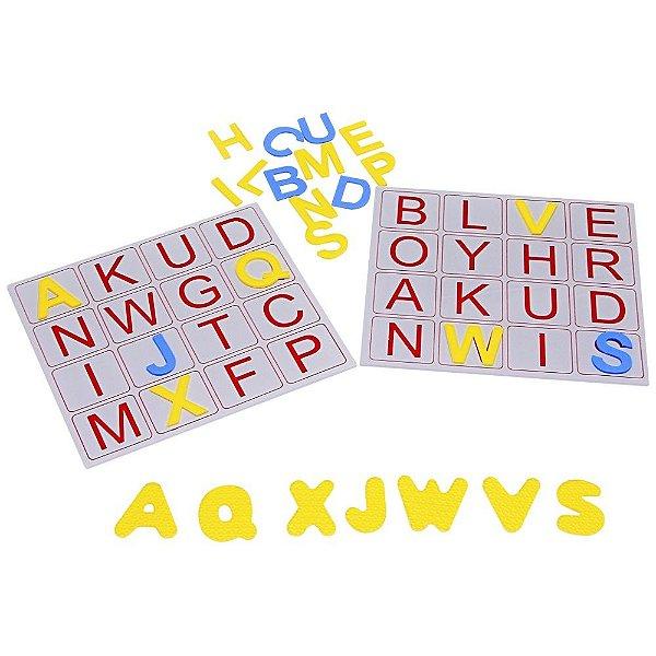Alfabeto bingo de letras em EVA - 196 pc - Emb. plast.