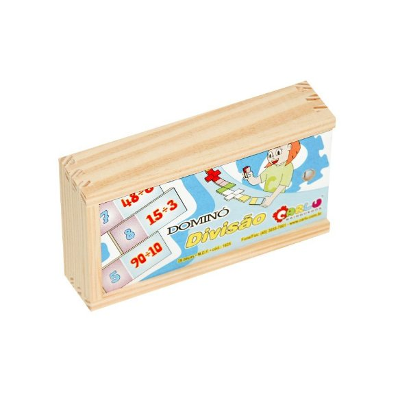 Domino divisao em MDF com 28 pecas - Cx. madeira.