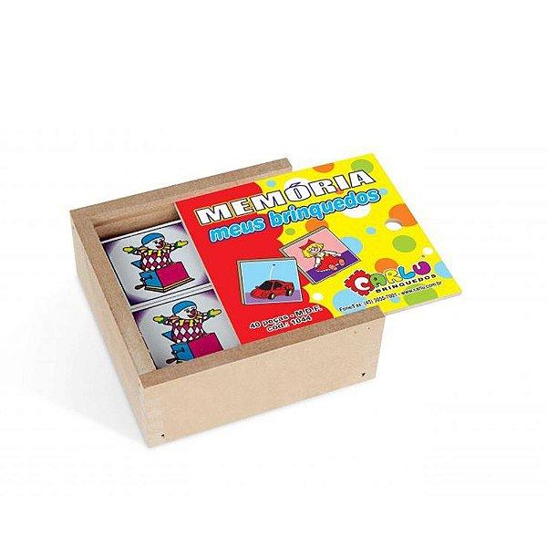 Memoria meus brinquedos em MDF com 40 pecas - Cx. madeira.